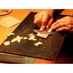 Cutit special pielarie forma semiluna