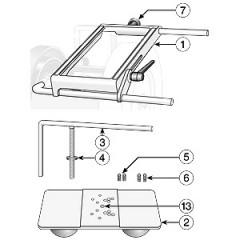 Atasament ascutire cutite amovibile frezare lemn SVP-80