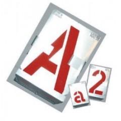 Set sabloane vopsire litere A-Z,& (27 piese),10-500 mm