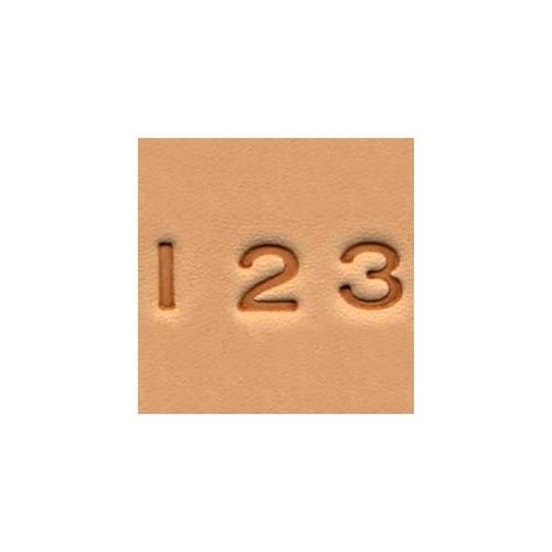 4904-00 Set stante embosare piele CIFRE de 6mm.