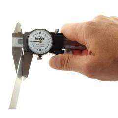 A433 Subler din otel inoxidabil cu ceas comparator 200 mm
