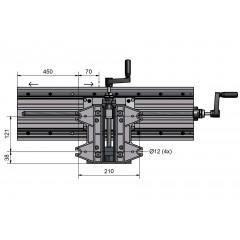 24610 Masa frezare/masa in coordonate 600x180mm