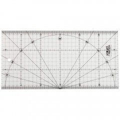 MQR Rigla gradata 15X30 cm pielarie, Olfa
