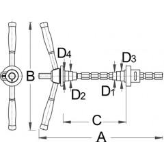 1680/4 Scula de presat rulmentul la bicicleta