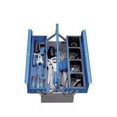 1600E1N Set de scule pentru bicicleta in cutie metalica