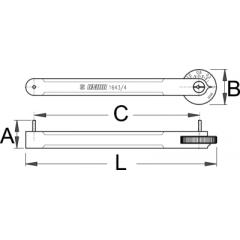 1643/4 Verificator profil lant bicicleta