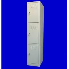 "Vestiar metalic cusetat 1x3 cusete ""MINI"",312x450x1500 mm"