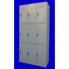 "Vestiar metalic cusetat 3x3 cusete ""MINI"",889x450x1500 mm"