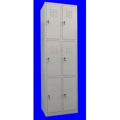 "Vestiar metalic cusetat 2x3 cusete ""MAXI"" , 600x450x1800 mm"