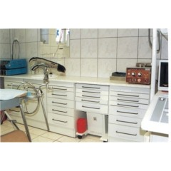 Dulap metalic cabinet medical/stomatologic cu un sertar, usa, fara polita, 500x460x830 mm