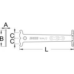 1644/2 Indicator de uzura lant bicicleta
