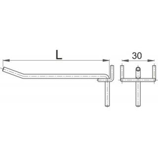 Carlig metalic pentru panou profesional de scule 100 mm Unior
