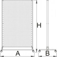Panou profesional mobil pentru scule cu perete plin, Unior