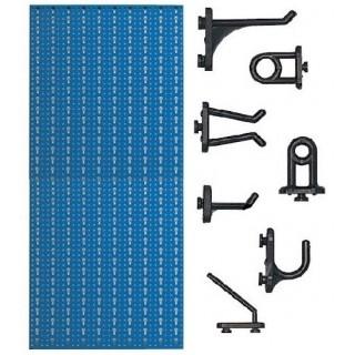 AB1 Panou profesional vertical albastru, 500x1000mm cu 40 carlige plastic