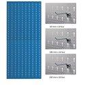 AB4 Panou profesional vertical albastru, 500x1000mm cu set 30 carlige metalice