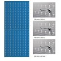 AB5 Panou profesional vertical albastru, 500x1000mm cu set 30 carlige metalice