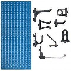 STV1 Panou perforat metalic albastru vertical, 500x1000 mm cu set 50 carlige