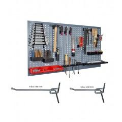 Kit 3 panouri perforate vertical/orizontal 1200x600 pentru scule profesionale cu set de 12 carlige
