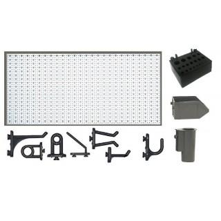 A1-1 Panou perforat orizontal alb, 1000x500 mm cu set accesorii