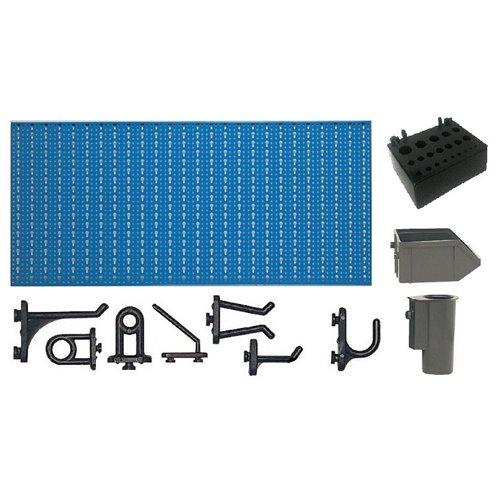 A1-3 Panou perforat orizontal albastru, 1000x500 mm cu set accesorii