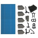 A1-4 Panou perforat vertical albastru, 500x1000 mm cu set accesorii