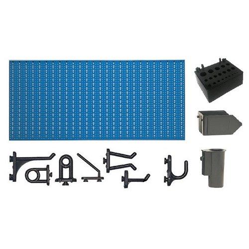 A2-3 Panou perforat orizontal albastru, 1000x500 mm cu set accesorii