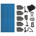 A2-4 Panou perforat vertical albastru, 500x1000 mm cu set accesorii