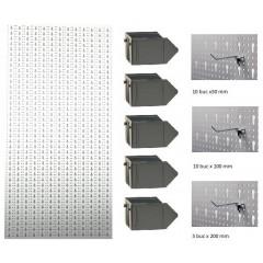 B1-2 Panou perforat vertical alb, 500x1000 mm cu set accesorii