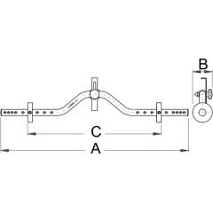 1690/1 Verificator simetrie roata bicicleta