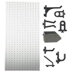 C1-2 Panou perforat vertical alb, 500x1000 mm cu set accesorii