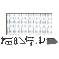 C2-1 Panou perforat orizontal alb, 1000x500 mm cu set accesorii