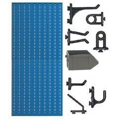 C2-4 Panou perforat vertical albastru, 500x1000 mm cu set accesorii