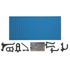 C3-3 Panou perforat orizontal albastru, 1000x500 mm cu set accesorii