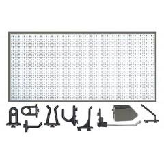D2-1 Panou perforat orizontal alb, 1000x500 mm cu set accesorii