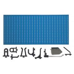 D2-3 Panou perforat orizontal albastru, 1000x500 mm cu set accesorii