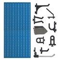 D2-4 Panou perforat vertical albastru, 500x1000 mm cu set accesorii