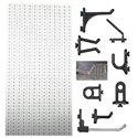 D3-2 Panou perforat vertical alb, 500x1000 mm cu set accesorii