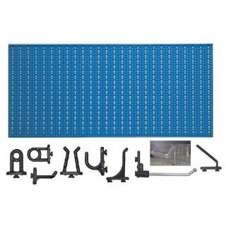 D3-3 Panou perforat orizontal albastru, 1000x500 mm cu set accesorii