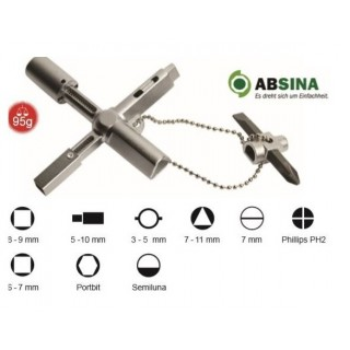 AB-1002 Cheie universala ABSINA pentru panouri