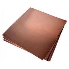 Foaie de tabla de cupru pentru modelism 0.1x250x200mm