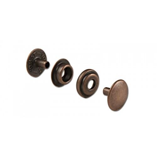 Set 10 bucati capse, diverse finisaje LINE 24 (8mm) Tandy Leather