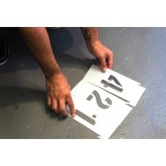 Set sabloane vopsire litere mari A-Z, 5-30 cm inaltime caracter.