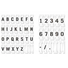 Set sabloane vopsire litere si cifre 0-9 / A-Z, de 5-30 cm inaltime caracter.