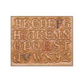 72018-00 Sablon pentru pielarie, litere caligrafice, 44mm