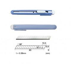 Set Cutter / cutit utilitar mic NT Cutter - 9mm + 10 lame de schimb