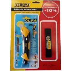 Set L1/LFB/LB-10 - cutter si lame, Olfa