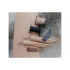 Canat piele de BIVOL tabacita vegetal 3-4mm grosime.