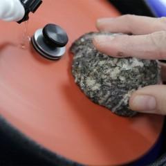 """Masina lepuit inclinata cu disc de 6"""" pt piatra/ minerale/ metal"""