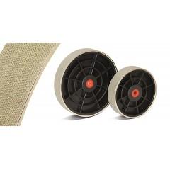 """Disc cu tambur plastic de 8"""" diamantat texturat pt polizare minerale/sticla pt polizorul CabKing"""