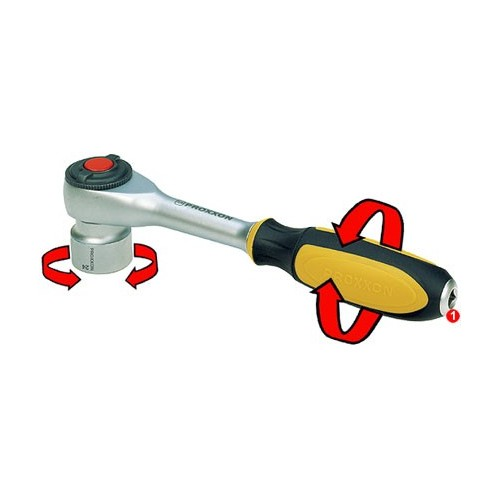 Cheie speciala cu click-et (rack special) cu maner rotativ 3/8'' PROXXON Industrial